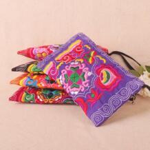 Горячий телефон carrybag! красивая вышивка кошелек телефон/макияж сумки холст вышивка Двусторонняя небольшой мобильный ключ держатель сумки Twinssl&Doublesl 32526214948