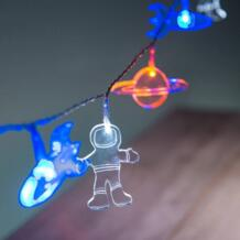 Детские вечерние украшения для душа, наружное пространство, светодиодные гирлянды, космический корабль, ракета, Марс, домашний декор для детской комнаты, мультфильм HAOCHU 32773170962