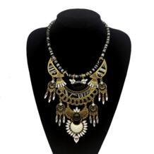 Для женщин модные Богемские ожерелья и подвески современный Хиппи Большой мрамор камень колье ожерелье племенной этнический boho mujer bijoux Новинка holiian 32814678143