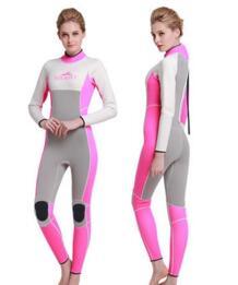 Женские 3 мм всего тела ярко Мокрые одежды спорта людей женский утолщенной Большие размеры цельный водолазный костюм зимняя термальная подводное плавание костюм купальники No name 32735209863