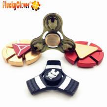 1 шт. Железный человек Tri-spinner колеса Fidget Spinner металл Ironman ручной Спиннеры гироскоп для повседневного использования Figet игрушка спинер для Autistress дети взрослые PluckyClover 32832764296