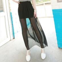летние модные, пикантные женские длинные фатиновые юбки для женщин прозрачной сетки макси юбка миди saias faldas femininas LANBAOSI 1873984766
