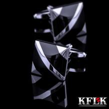 Роскошные 2019 новая рубашка Запонки мужские бренд манжеты Пуговицы Запонки черный gemelos высокое качество abotoaduras ювелирные изделия Kflk 32226829865