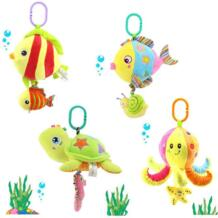 Мягкий чучела морских животных плюшевые игрушки Погремушки С изображением машины висит коляски музыкальная игрушка осьминог ниндзя черепах подарок V Convey 32673771740
