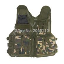 Тактический военный сетчатый жилет для рыбалки без воротника тонкая быстросохнущая многокарманная сетка дышащая охотничья куртка одежда UNITEWIN 32814836941