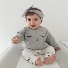 Комплекты для малышей Милый хлопковый набор для новорожденных девочек, Детская футболка с рисунком топ + длинные штаны, комплект летней одежды для малышей pudcoco 32768846490