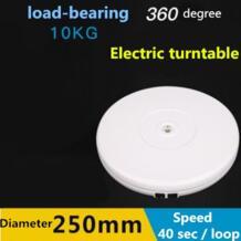 Белый Электрический моторизованный вращающийся проигрыватель Дисплей стенд с светодио дный, 25 см Диаметр, 10 кг Centric загрузки для фотографии NO00DC CADeN 1466693641