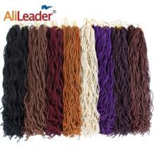 Alileader 6packs/много богиня искусственная Locs вьющиеся крючком ужаса волосы 15 корни крючком кос наращивание волос 8 Чистый цвета доступны No name 32896812768