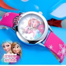 Новинка 2019 года relojes детские часы с рисунком из мультфиломов Принцесса Эльза часы Anna модные детские милые relogio кожа кварцевые наручные часы подарок для девочек CYD CHAOYADA 32752555959