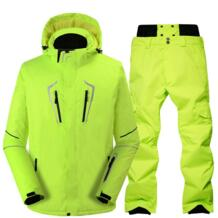 Лыжный костюм мужской ветрозащитный Водонепроницаемый Утепленная зимняя одежда для мужчин сноуборд куртка Брюки для девочек костюм зимний Лыжный Спорт Пальто Мотобрюки RIVIYELE 32837104127