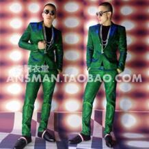 Горячая 2019 Новый Для мужчин тонкий певец Цвет пиджаки электро синий зеленый мощность вспышки desuit костюмы Большие размеры официальные костюмы Для мужчин s костюм ZHQUNHUU 32775257257