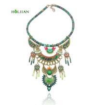 Для женщин Мода чешского ожерелье и подвески современных Хиппи Большой Мрамор камень колье ожерелье племенной этнические boho mujer bijoux Новый holiian 32814604252