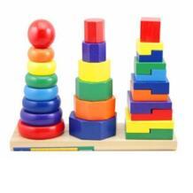 Деревянный Монтессори Цвет и Форма обучающие игрушки для детей раннего Развивающая игра с детские игрушки No name 32879896174
