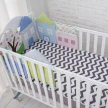 Высокое качество Гибкие Комбинации все виды хижины Детская кровать бампер легко Применение бортики в кроватку Размеры 30*30 и 40*60 No name 32852932102