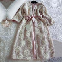 Осенне-зимняя Шелковая пижама халат Роскошная ночная рубашка женская вышитая Длинная Ночная Рубашка розовая ночная рубашка утолщенная Пижама Chimavvi 32783901465