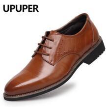 /Мужские модельные туфли из натуральной кожи, с острым носком, на шнуровке, Оксфордский бизнес, черные, синие, желтые мужские туфли для свадьбы UPUPER 32823367250