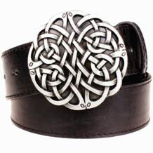 Модный кожаный ремень Кельтский Узел серия металлическая пряжка геометрический переплетенный узор Мужские Простые повседневные ремни тренд женский джинсовый ремень SexeMara 32625552432