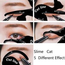 Тени для век Чехол-бумажник для макияжа инструмент для бровей Тени для век пластиковый шаблон комплект шаблон для подводки для глаз макияж глаз дизайн инструмент для макияжа BU-Bauty 32837826131