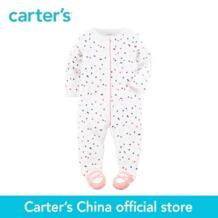 Carter's/1 шт. для маленьких детей Детские Весна-осень девушка одежда Встроенные Footies аппликация месте Cotton Snap-Up Sleep & Play 115G266 No name 32796581747