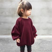 Pudcooc/брендовые свитера для маленьких девочек, 5 цветов, зима 2017, Новая Вязаная одежда для девочек, детский осенний Однотонный свитер для девочек pudcoco 32828851563