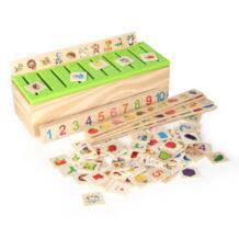 Монтессори Развивающие детские игрушки деревянные Животные детей раннего обучения знания Классификация коробке блоков Brinquedos Дети 2018 No name 32868078573