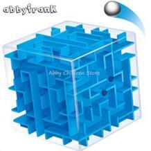 3D лабиринт Магический кубик лабиринт катящийся шар Игрушечные лошадки головоломки Скорость Cube magicos образования разведки игра-головоломка Cubo игрушка abbyfrank 32719150957
