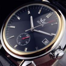 2016 новая мода мужские часы лучший бренд класса люкс кожаный ремешок повседневное Авто Дата Механические самовзводные наручные часы Sewor 32237079970