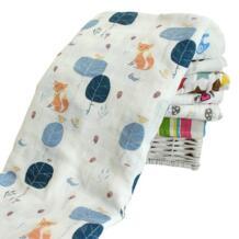 Детское Пеленальное Одеяло для новорожденных Детское хлопковое удобное муслиновое Пеленальное полотенце 120*120 см Kacakid 32724013286