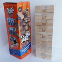 54 шт самая большая деревянная игра «Дженга» гигантские игровые блоки Строительные блоки деревянные игровые стопки до 5 + футов. Возраст 6 + взрослые No name 32898290065