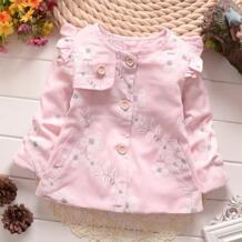 Повседневное Демисезонный маленьких Обувь для девочек младенческой Дети принцесса цветок Куртки верхняя одежда Пальто для будущих мам кардиган пальто mt389 No name 32469539611