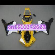 Желтый черный белый обтекатели для YZF R6 2003 2004 2005 YZF-R6 03 04 05 YZFR6 600 03-05 комплект обтекателей YZFR6 600 03-05-Dor d No name 32608154687