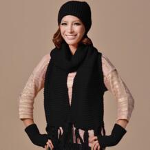 Новые зимние уличные женские теплые шарфы шерстяные вязаные шапки Перчатки женщина шляпы 3 предмета в комплекте шапка + шарф + Перчатки/комплект No name 32719366064