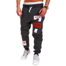 2018 г. Лидер продаж мужские хип-хоп Письмо печати тренировочные брюки досуг шнурок брюки мужчины Slim Fit Брюки мужские джоггеры дропшиппинг No name 32451737226