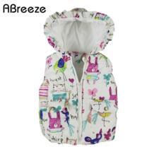 2017 осенне-зимняя детская одежда, новая верхняя одежда и пальто для девочек, жилет с капюшоном и рисунком животных для девочек, куртки, теплый жилет для маленьких девочек No name 32670376681