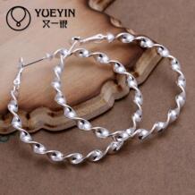 Аксессуары новый дизайн посеребренные ювелирные изделия женские серьги кольца мода brincos Заушник модные украшения витой JITULEZHI 32342717950