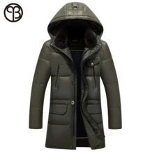 Asesmay 2016 мужская зимняя куртка пальто человек зимнее пальто с капюшоном съемный шлем шуба человек зимние куртки и пальто с кролик натуральный мех воротник пальто куртка мужская зима куртка мужская No name 32717577007