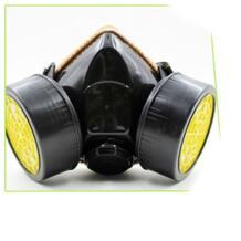 Противогазовая маска аварийного безопасность, выживание дыхательных регулируемый ремень анти пыли краски респиратор Маска с 2 двойной фильтр No name 32880765669