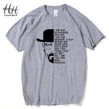 Hanhent Breaking Bad Для Мужчин's Футболки Гейзенберг опасность короткий рукав o-образным вырезом Хлопок Футболка Летний Стиль Мода Для мужчин футболки ta0255 HANHENT HH 32367244059