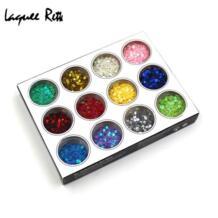 12 цветов Блестящий 3D Звезда части из страз инструменты для ногтей маникюр Дизайн ногтей для декора блестит No name 2006561746