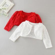 Красные куртки для маленьких девочек, 100% хлопок, белый Детский кардиган, свитер для 1 и 2 лет, пальто, весна 2019, Одежда для новорожденных, RBC185005 OMGosh 32947129474