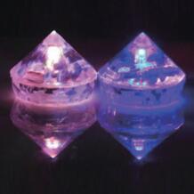 60 шт./лот многоцветный СВЕТОДИОДНЫЙ световой кубик льда, ромбовидной формы flash льда вечерние мигает украшения Красивые Свадебные Поставки No name 32256526702