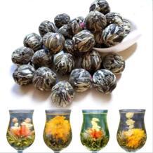Органическая смесь цветущие чайные шарики/связанный чай шары, артизальный дисплей чай, белый чай + Жасмин/гомфрена/османтус/Лилия + многое другое AQSFML 33018679071