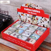 Zakka коробка для хранения украшения коллекция дисплей конфеты таблетки Chutty Мини хранения металла Винтаж мультфильм жестяная коробка 5,5*4*2,5 см Staygold 32301695500