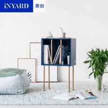 [Inyard оригинальный] Чтение сбоку шкафы/золото, натурального мрамора, нордический дизайн, синий книжный шкаф, диван сбоку No name 32822278971