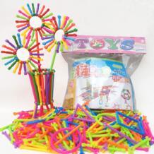 256 шт. DIY собраны строительные блоки Smart Stick Пластик блоки Imagination творчество обучения игрушки для детей GOOD LUCKY BOY 32949494550