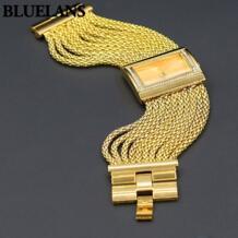 Лидер продаж классические роскошные кварцевые часы женские золотые бриллиантовый корпус сплав Группа Браслет часы No name 32376535160