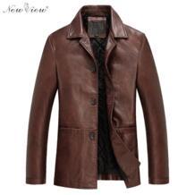 Модные Для мужчин Кожаные куртки осень и весна из искусственной кожи одежда из мягкой овчины Бизнес повседневные пальто для Для мужчин мужской Байкер Куртки No name 32445459226