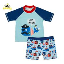 Kavkas/для маленьких мальчиков летние Плавание костюм пляжный комплект со штанами и футболкой Мультфильм Акула Печать мальчики Плавание носить купальные шорты для детей Плавание одежда No name 32852628803