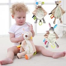 детский игрушечный удобный носовой платок успокаивающее полотенце детское одеяло безопасности с прорезывателем для ребенка для сенсорного развития JJOVCE 32793943889