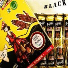 12 шт. черный индийский хна Татуировка паста конус боди-арт временная подделка палец Татуировка Хна Дизайн тела краска комплект 25 г GOLECHA 32750969186